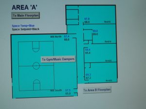 Area 'A' Floor Plan for Energy Management