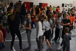 Indian Creek Students dancing during the dance marathon