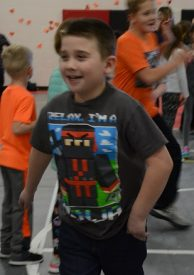 Indian Creek student dancing during the dance marathon.