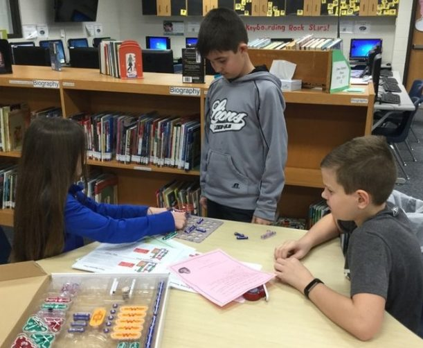 Indian Creek students working with snap circuits