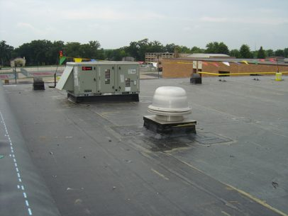 Repair a portion of the High School roof