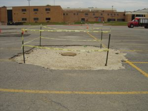Upgrade the sewer lines at the High School and Learning Resource Cente
