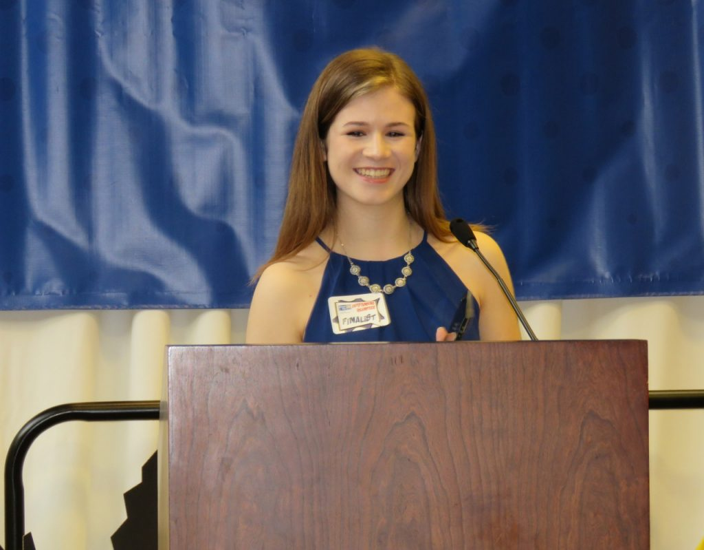 Senior Mary Claire Henricksen receives the United Way of East Central Iowa's Youth Volunteer Award