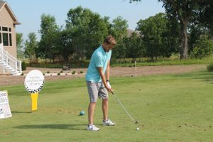 2016 Annual Lion Open Golf Classic - golfer tees off
