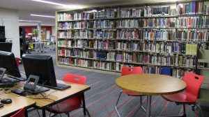 Upper Commons Library at Linn-Mar High School