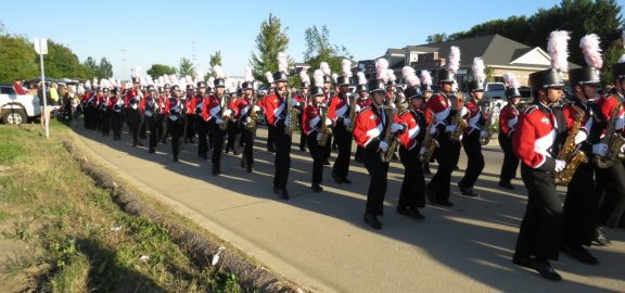 Linn-Mar High School Marching Band in Homecoming Parade