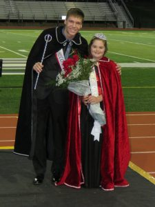 Linn-Mar High School Homecoming King Tyler Green and Homecoming Queen Sydney Von Lehmden