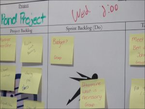 project board at iowa big