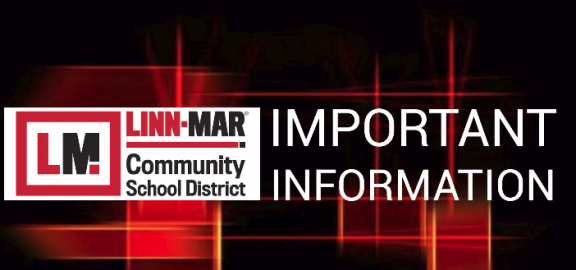 Linn-Mar School District Logo with words Important Information
