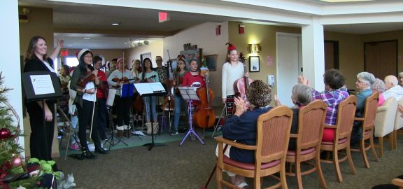Middle School Chamber Orchestra performing at The Villages in Marion