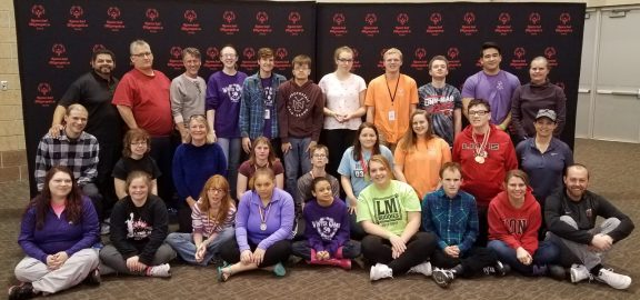 Linn-Mar High School Special Olympic Team group photo