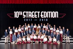 10th Street Edition Group Photo on stage