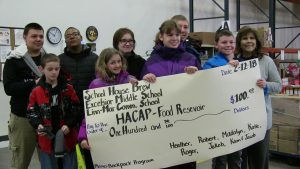 Excelsior Students with giant check for HACAP