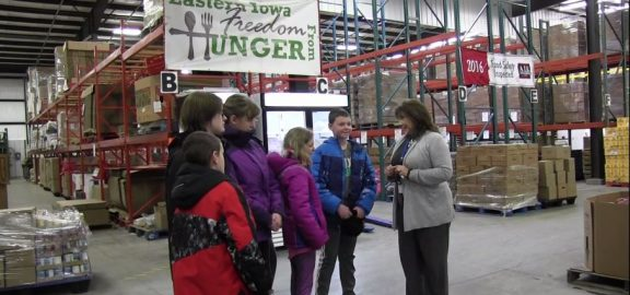 Group of students touring HACA food reservoir
