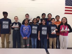 Oak Ridge Middle School Mathletes team