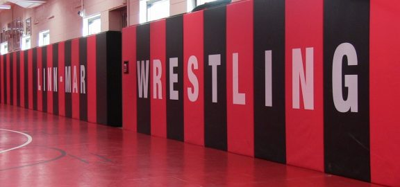 Linn-Mar wrestling practice room