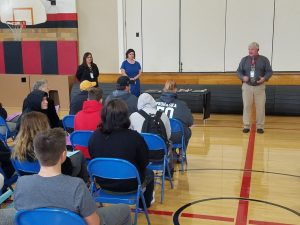 Mr. Goodell speaks during Compass ceremony