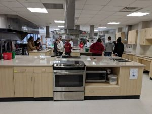 Dept of Ed visit Culinary lab