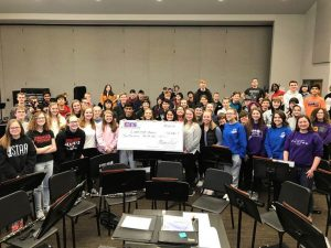 High School Band receives Fundraising Check