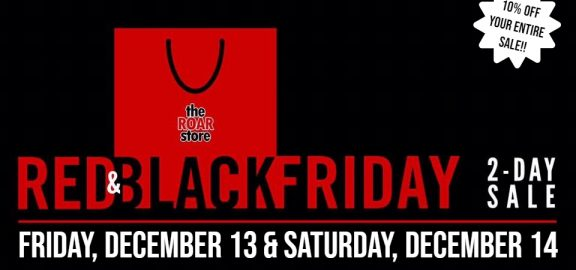 ROAR Store red and Black friday Sale