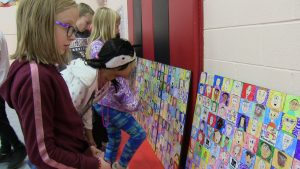 Westfield Students Admire their Mural 2