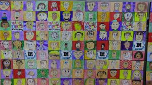 Westfield Students Admire their Mural 3