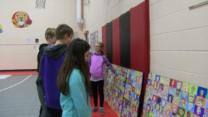 Westfield Students Admire their Mural