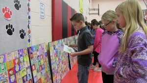 Westfield Students Admire their Mural 4