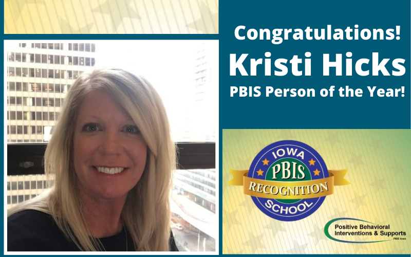 Kristi Hicks PBIS Person of the Year