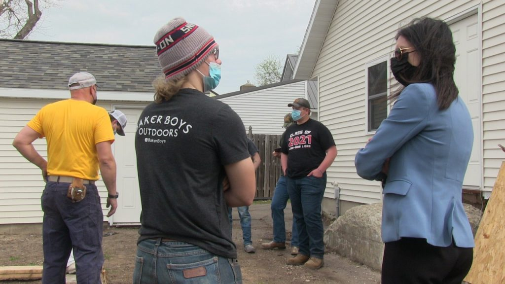 Director Lebo with Marion and LM students at MEDCO Home Project FINAL